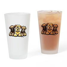Wheaten Terrier Cartoon Drinking Glass