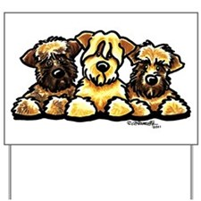 Wheaten Terrier Cartoon Yard Sign