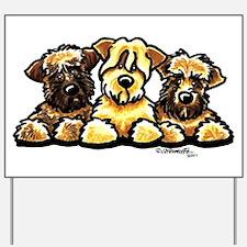 Wheaten Terrier Cartoon Yard Sign