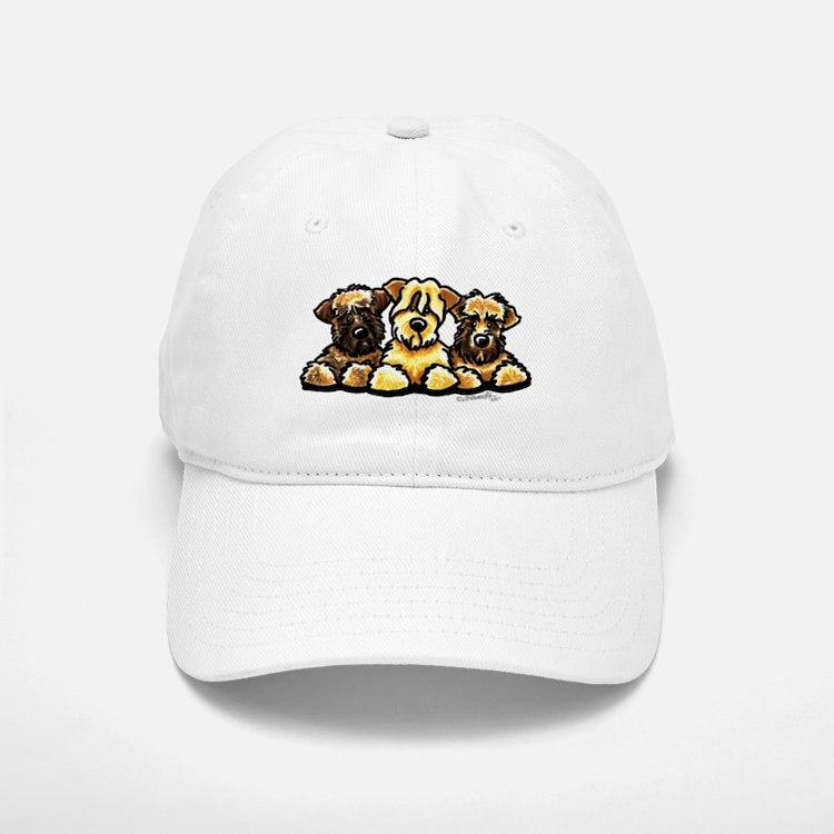 Wheaten Terrier Cartoon Baseball Baseball Cap