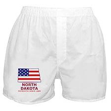 ND USA Flag Map 2 Boxer Shorts