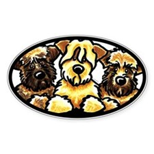 Wheaten Terrier Cartoon Decal