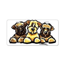 Wheaten Terrier Cartoon Aluminum License Plate