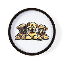 Wheaten Terrier Cartoon Wall Clock