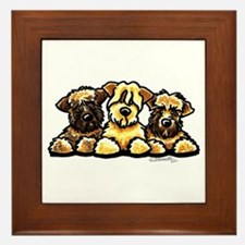 Wheaten Terrier Cartoon Framed Tile