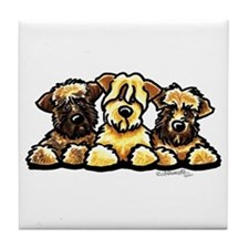 Wheaten Terrier Cartoon Tile Coaster