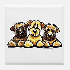 Wheaten Terrier Cartoon Tile Coaster