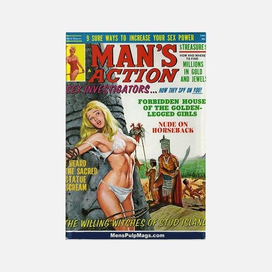 MAN'S ACTION, June 1969 Rectangle Magnet