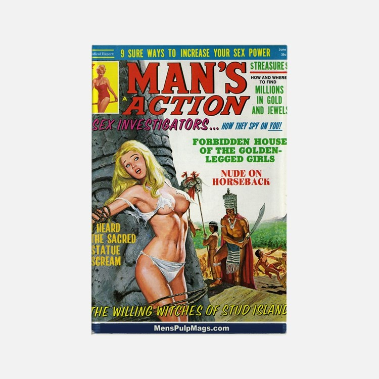 MAN'S ACTION, June 1969 Rectangle Magnet