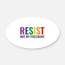 Glbt Resist Oval Car Magnet