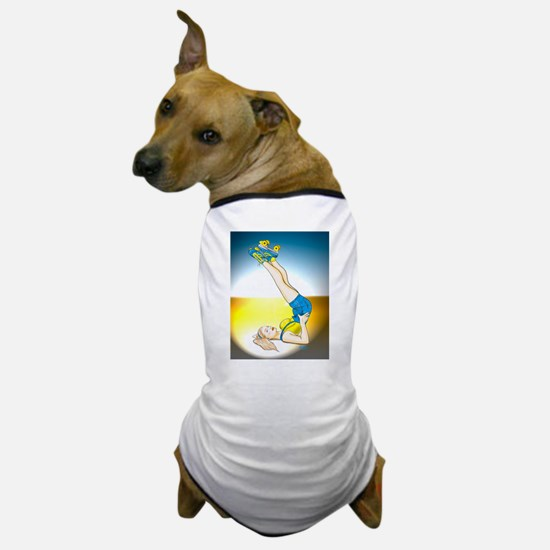 Roller Derby Girl Pin-up Dog T-Shirt