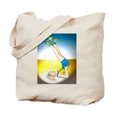 Roller Derby Girl Pin-up Tote Bag