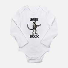 Lemurs Rock Long Sleeve Infant Bodysuit