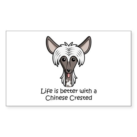 Chinese Crested Sticker (Rectangle)