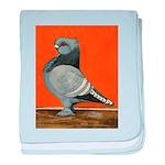 Blue Blondinette Pigeon baby blanket