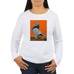 Blue Blondinette Pigeon Women's Long Sleeve T-Shir