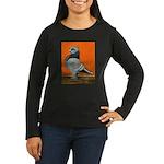 Blue Blondinette Pigeon Women's Long Sleeve Dark T