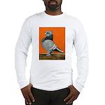 Blue Blondinette Pigeon Long Sleeve T-Shirt
