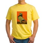 Blue Blondinette Pigeon Yellow T-Shirt