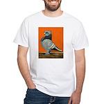 Blue Blondinette Pigeon White T-Shirt