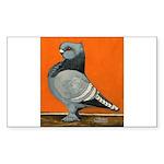 Blue Blondinette Pigeon Sticker (Rectangle 50 pk)