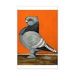 Blue Blondinette Pigeon Mini Poster Print