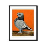 Blue Blondinette Pigeon Framed Panel Print