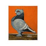 Blue Blondinette Pigeon Throw Blanket