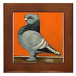 Blue Blondinette Pigeon Framed Tile