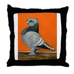 Blue Blondinette Pigeon Throw Pillow