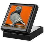 Blue Blondinette Pigeon Keepsake Box