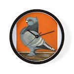 Blue Blondinette Pigeon Wall Clock