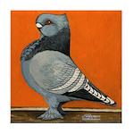 Blue Blondinette Pigeon Tile Coaster