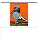 Blue Blondinette Pigeon Yard Sign
