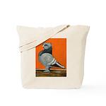 Blue Blondinette Pigeon Tote Bag