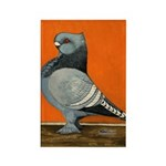 Blue Blondinette Pigeon Rectangle Magnet (10 pack)