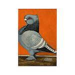 Blue Blondinette Pigeon Rectangle Magnet