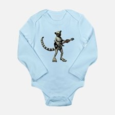 Lemur Guitar Long Sleeve Infant Bodysuit