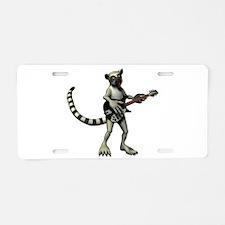 Lemur Guitar Aluminum License Plate