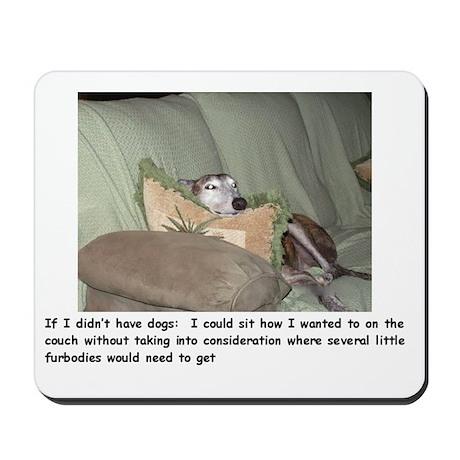 Mousepad - greyhound couch potato