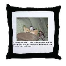 Throw Pillow-Greyhound Couch Potato