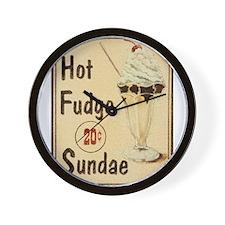 Hot Fudge Sundae Wall Clock