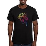 Rainbow Horse Flourish Men's Fitted T-Shirt (dark)
