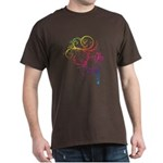 Rainbow Horse Flourish Dark T-Shirt