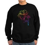 Rainbow Horse Flourish Sweatshirt (dark)