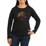Rainbow Horse Flourish Women's Long Sleeve Dark T-