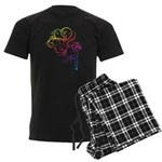 Rainbow Horse Flourish Men's Dark Pajamas