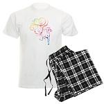 Rainbow Horse Flourish Men's Light Pajamas