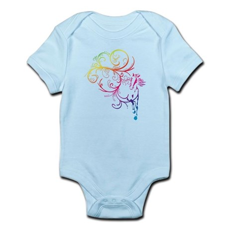 Rainbow Horse Flourish Infant Bodysuit
