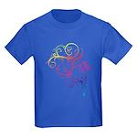 Rainbow Horse Flourish Kids Dark T-Shirt